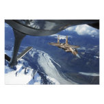 A US Air Force F-15C Eagle positioning itself Photographic Print