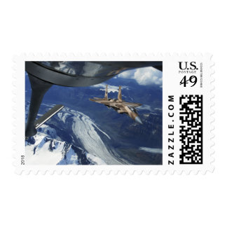 A US Air Force F-15C Eagle positioning itself Stamp