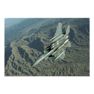 A US Air Force  F-15E Strike Eagle Poster