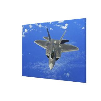 A US Air Force F-22 Raptor in flight near Guam Canvas Print
