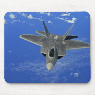 A US Air Force F-22 Raptor in flight near Guam Mouse Pad