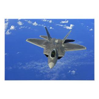 A US Air Force F-22 Raptor in flight near Guam Art Photo