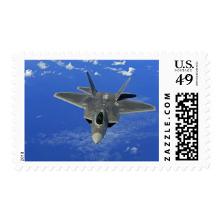 A US Air Force F-22 Raptor in flight near Guam Postage Stamp