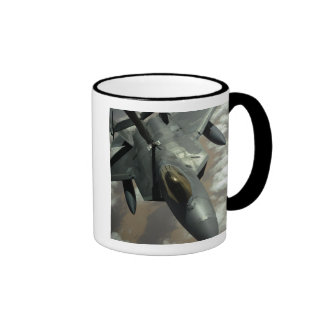 A US Air Force F-22 Raptor is refueled by a KC- Ringer Coffee Mug