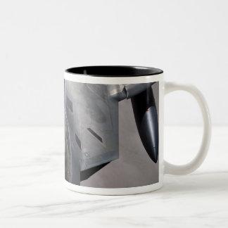 A US Air Force F-22 Raptor is refueled Two-Tone Coffee Mug