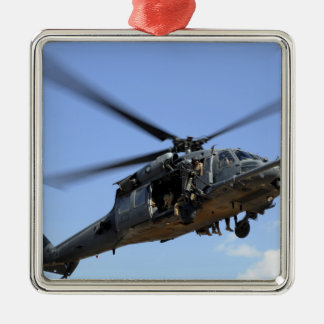 A US Air Force HH-60 Pavehawk Square Metal Christmas Ornament