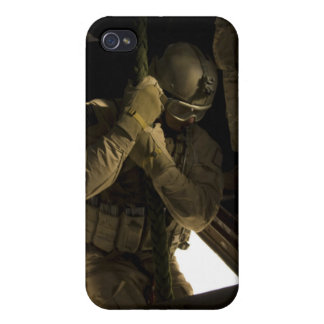 A US Air Force pararescueman begins his descent Cases For iPhone 4