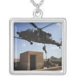 A US Air Force Pararescuemen Square Pendant Necklace