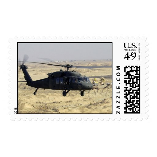 A US Army Black hawk Helicopter Postage Stamp