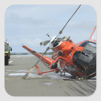 A US Coast Guard MH-65 Dolphin helicopter crash Square Sticker