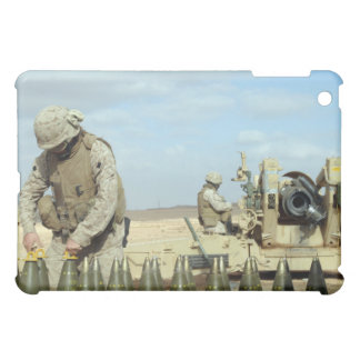 A US Marine prepares howitzer rounds to be fire iPad Mini Cover