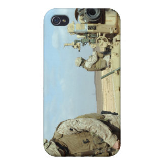 A US Marine prepares howitzer rounds to be fire iPhone 4/4S Cases