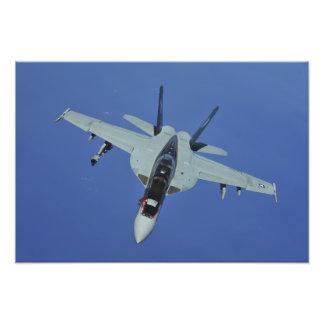 A US Navy F/A-18F Super Hornet in flight Photo Print