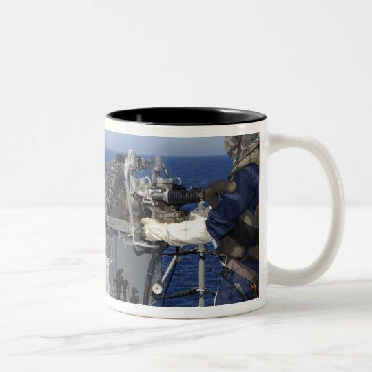 A US Navy Gunner's Mate Two-Tone Coffee Mug