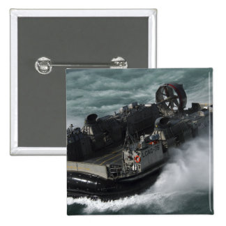 A US Navy Landing Craft Air Cushion 2 Inch Square Button