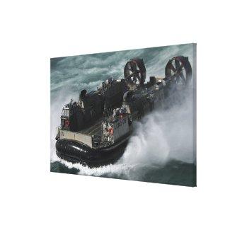 A US Navy Landing Craft Air Cushion Canvas Print