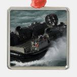 A US Navy Landing Craft Air Cushion Metal Ornament