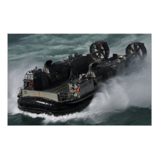 A US Navy Landing Craft Air Cushion Poster