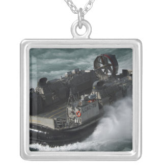 A US Navy Landing Craft Air Cushion Square Pendant Necklace