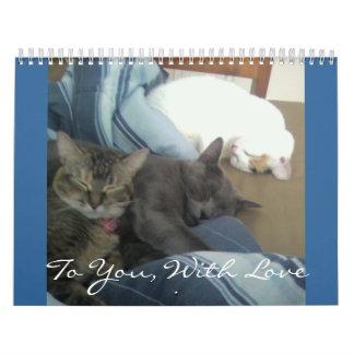 A usted, con el amor - modificado para requisitos calendarios de pared