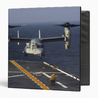 A V-22 Osprey aircraft prepares to land 3 Ring Binder