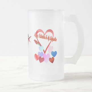 A Valentine For Baby Sitter Frosted Glass Beer Mug