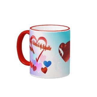 A Valentine For Baby Sitter Ringer Mug