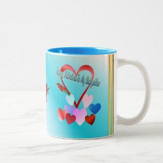 A Valentine For Baby Sitter Two-Tone Coffee Mug