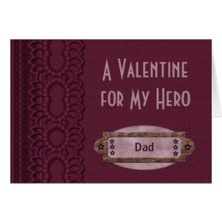 A Valentine For My Hero  Customized Card