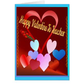 A Valentine For Teacher Card