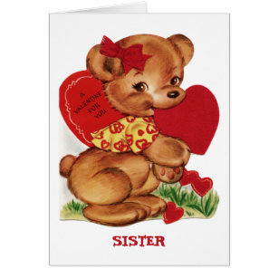 Sister valentine cards greeting photo cards zazzle a valentine for you sister greeting card m4hsunfo Choice Image
