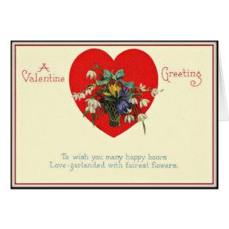 A Valentine Greeting - Vintage Valentine Card