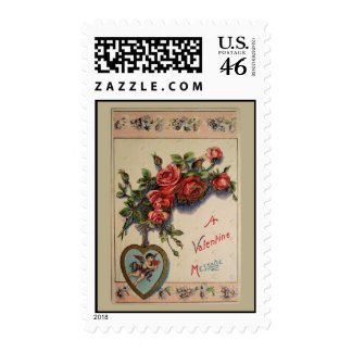 A Valentine Message Postage Stamps