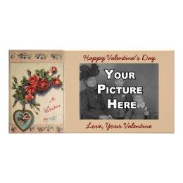 A Valentine Message Vintage Photo Card