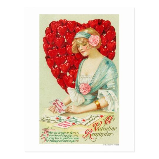 A Valentine Reminder Postcard