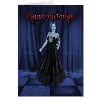 A Vampire Birthday card