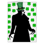 A Vampire on St. Patrick's Day Greeting Card