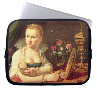A vanitas portrait of a lady believed to be Clara Computer Sleeve