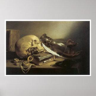 A Vanitas Still Life, 1645 Poster