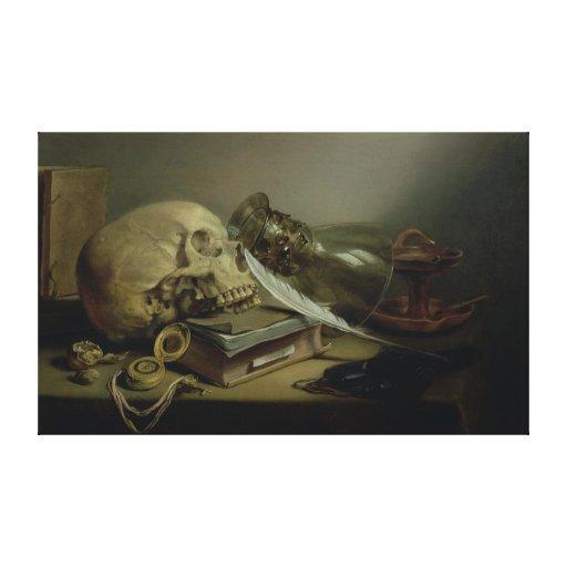 A Vanitas Still Life Canvas Print