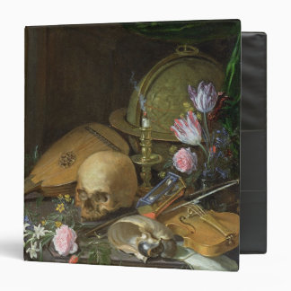 A Vanitas Still Life with a Nautilus and a Lute Vinyl Binders
