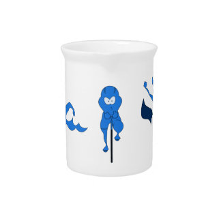 A variety of products with the blue Tri-toon logo. Drink Pitcher