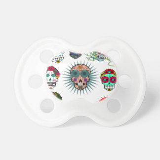 A Variety of Sugar Skulls Baby Pacifiers