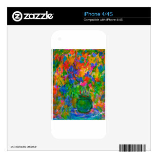 A Vase of Color iPhone 4S Skins
