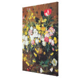 A Vase of Flowers Gallery Wrapped Canvas