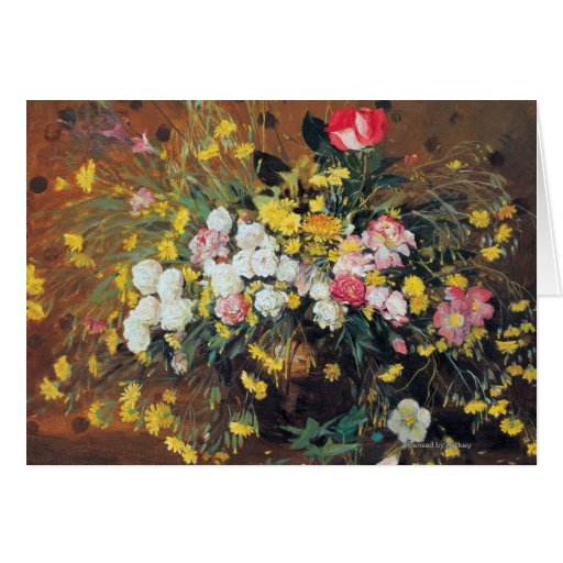 A Vase of Flowers Greeting Cards