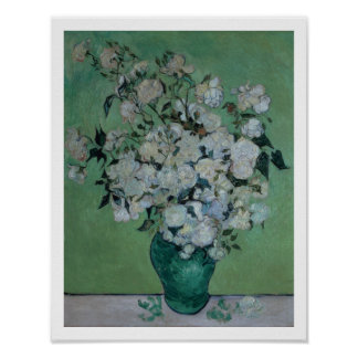 A Vase of Roses, 1890 (oil on canvas) Poster