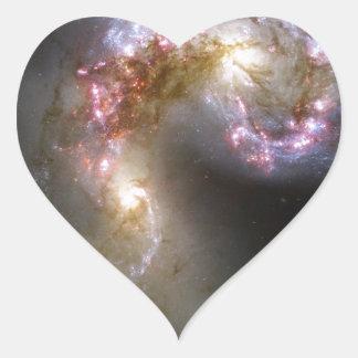 A Vast Cosmic Arena Heart Sticker