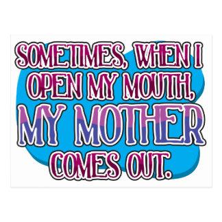 A veces, cuando abro mi boca… postal