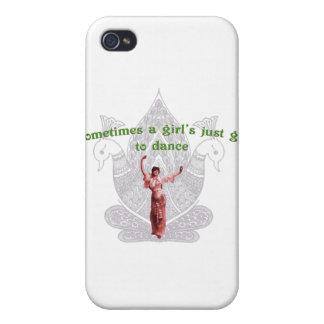 A veces el justo de un chica conseguido a la danza iPhone 4 funda